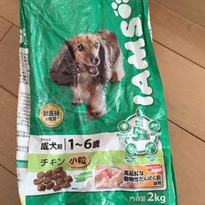 アイムス (IAMS) ドッグ 成犬用チキンを使用中